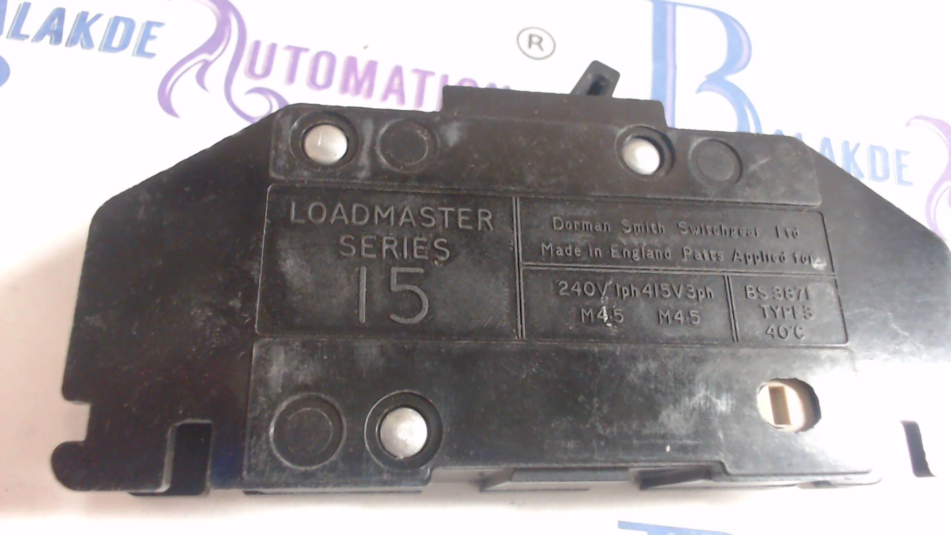 Dorman Smith Loadmaster Series 15 MCB 32A M4.5